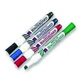 Whiteboard Marker Chisel Assorted [Pack of 4]