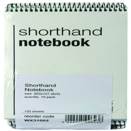 Shorthand Notebook 150 Leaf [Pack of 10]