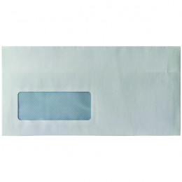 Envelopes Self Seal DL Window 80g White [Pack of 1000]