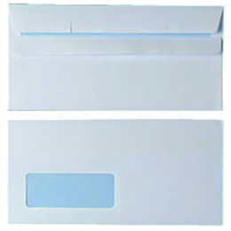 Envelopes Self Seal DL Window 90g White [Pack of 1000]