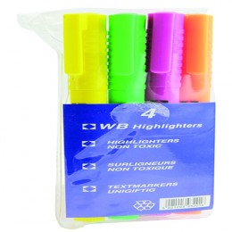 Pen Highlighter Assorted [Pack of 4]