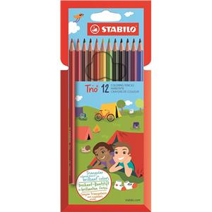 Stabilo Trio Thin Colouring Pencils [Pack of 12]