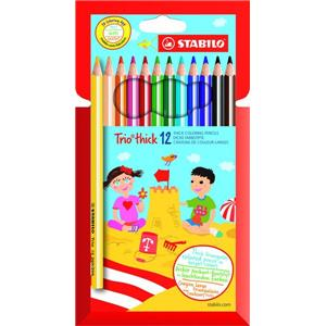 Stabilo Trio Thick Colouring Pencils [Pack of 12]