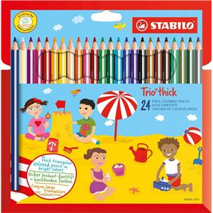 Stabilo Trio Thick Colouring Pencils [Pack of 24]