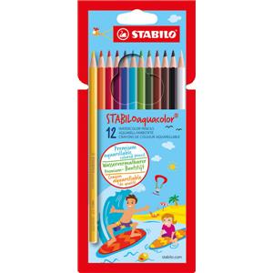 Stabilo Aquacolor Water Colour Pencils [Pack of 12]