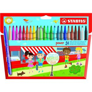 Stabilo Power Extra Long Lasting Felt Pens [Pack of 24]