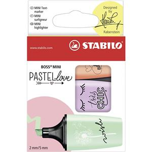 BOSS MINI Pastellove Highlighters Mint, Lilac and Peach [Pack of 3]