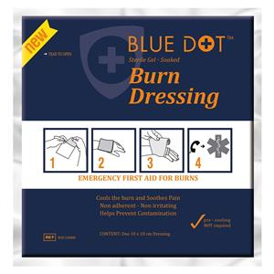Blue Dot Burn Dressing 10cm x 10cm [Pack of 10]