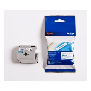 Brother MK223BZ Blue on White 8m x 9mm Plastic Tape