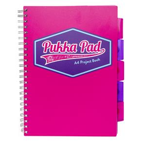 Pukka Vision Project Book A4 Pink [Pack of 3]