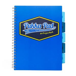 Pukka Vision Project Book A4 Blue [Pack of 3]