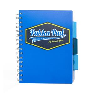 Pukka Vision Project Book A5 Blue [Pack of 3]