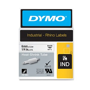 Dymo 18051 6mm White Heat Shrink Tube - S0718260