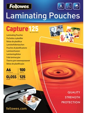 Fellowes A6 125 micron Laminating Pouch [Pack of 100]