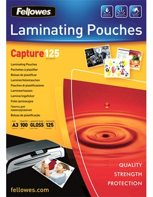 Fellowes A3 125 micron Laminating Pouch [Pack of 100]