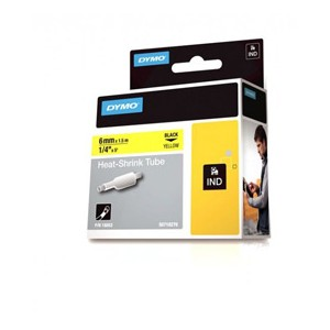 Dymo 18052 6mm Yellow Sleeve - S0718270