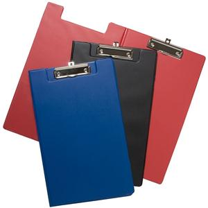 Value PVC Fold-Over A4 Clipboard Black