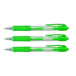 Value Retractable Gel Rollerball Green [Pack of 10]