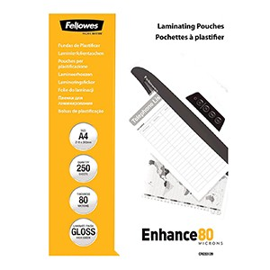 Fellowes A4 80 micron Laminating Pouch [Pack of 250]
