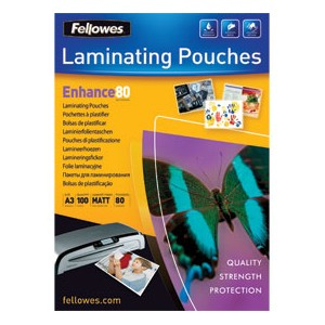 Fellowes Matt 80 micron Laminating Pouch [Pack of 100]