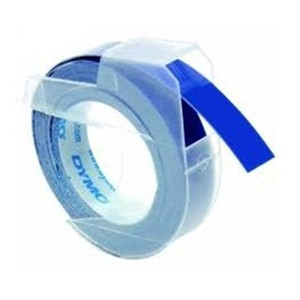 Dymo S0847740 White on Blue Embossing Tape pack of 3