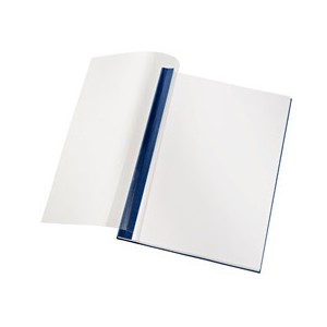 Leitz Softcover Linen Finish 10.5mm Cover Boards Clear and Blue [Pack of 10]