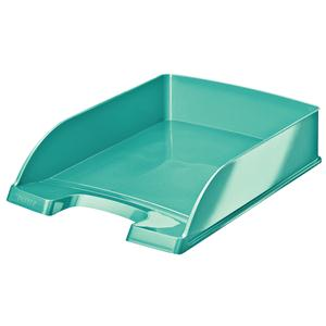 Leitz WOW Letter Tray Metallic Ice Blue