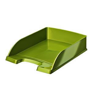 Leitz WOW Letter Tray Green Metallic A4