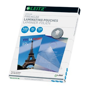 Leitz 74800000 A4 UDT iLAM 100 Micron Pouch [Pack of 100]