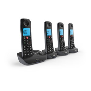 BT Essential Quad Dect Call Blocker Telephone with Answer Machine