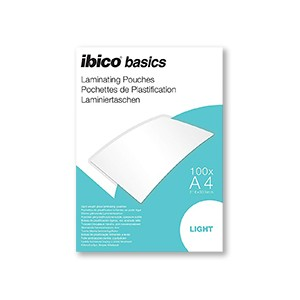 Ibico Basics A4 65 Micron Laminating Pouches - Pack of 100