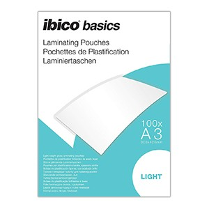 Ibico Basics A3 65 Micron Laminating Pouches - Pack of 100