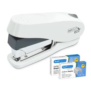 Rapesco Luna Less Effort Half-Strip Stapler White