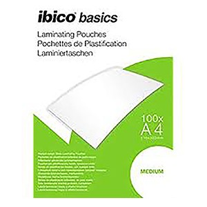Ibico Basics A4 Medium Laminating Pouches - Pack of 100