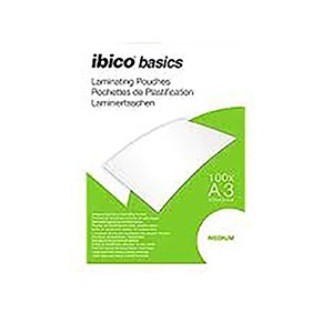 Ibico Basics A3 Medium Laminating Pouches - Pack of 100