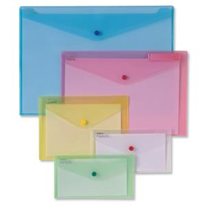 Snopake Polyfile Wallet File DL Classic Assorted [Pack of 5]