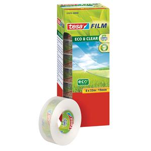 Tesa Film Eco Clear Tape 19mmx33m [Pack of 8]