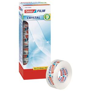 Tesa Film Crystal Tape 19mmx33m OfficeBox [Pack of 8]