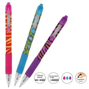 Zebra Z-Grip Funky Brights Ballpoint Pen Assorted [Pack of 3]