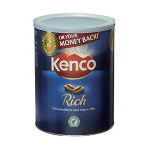 Kenco Really Rich Instant Coffee in Resealable Tin [Pack of 6]