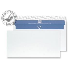Blake Premium Pure Plain DL Envelopes Peel and Seal Superwhite [Pack of 500]