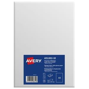 Avery A3L002-10 Premium Display Labels A3 Removable [Pack of 10]