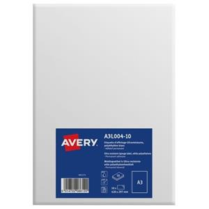 Avery A3L004-10 Permanent Display Labels A3 Permanent [Pack of 10]