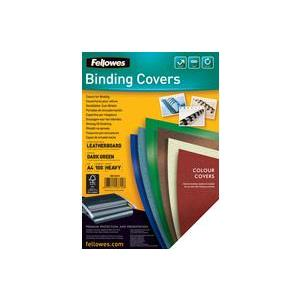 Fellowes FSC Leatherboard Covers A4 Green [Pack of 100]