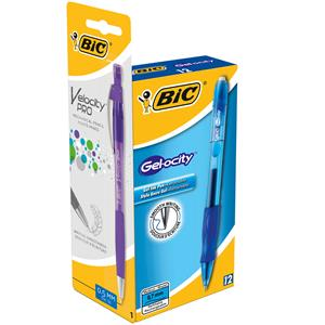 Bic Gelocity Comfort Grip Black with free Velocity Pro Mechanical Pencil [Pack of 12+1 Pencil]