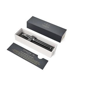 Parker IM Black Chrome Trim Fountain Pen Gift Boxed