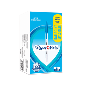 PaperMate Ballpoint Stick 1.0mm Pen Blue [Pack of 50]