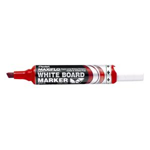 Pentel Maxiflo Whiteboard Marker Chisel Tip Red [Pack of 12]