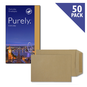Purely Everyday Pocket Manilla Gummed C5 80GSM [Pack of 50]