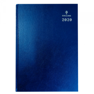 Collins A5 Desk Diary Day per Page 2020 Blue